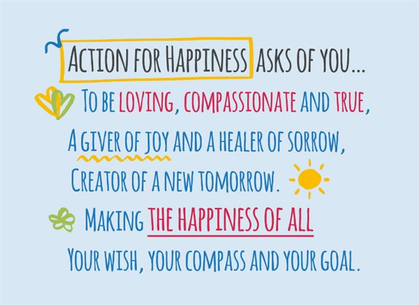 poster for action for happiness